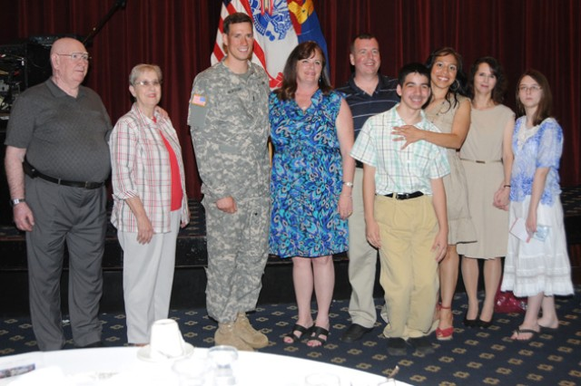 Albert Apel, Mary Apel, 2nd Lt. Peter Nickoloff, Darcy Lynch, Michael Boyle, Christopher Boyle, Martha Boyle, Chris Malone (who accepted the award on behalf of Meghan Malone) and Rachel Malone (Meghan's sister) were recognized at the ceremony.