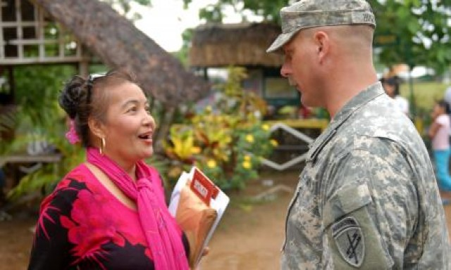 At first medical and veterinary outreach clinic of Exercise Balikatan 2012, civil affairs coordinates and Philippine, U.S. docs deliver