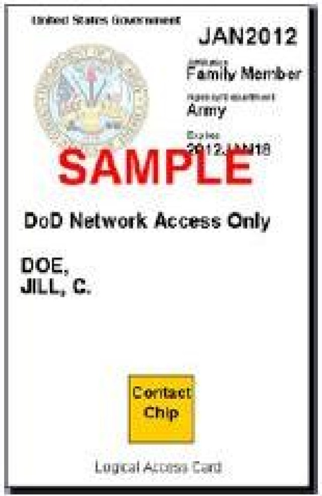 The Army is evaluating smartcard identity authentication as an alternative for Army family and retirees to login to Army websites like Army OneSource and AKO.