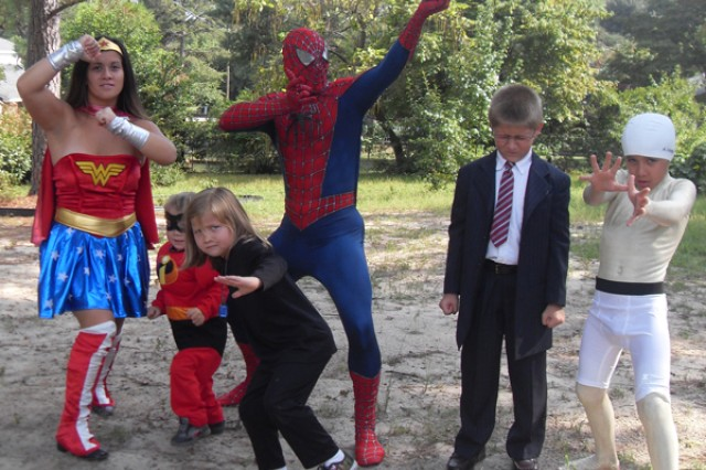 Among the photos submitted to the 2012 Military Fatherhood Award campaign shows the Edwards family in costume. From left are Esther, Luke, Elena, William, Jacob and David.