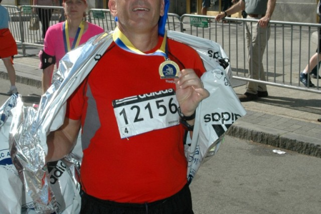 Mental and physical pain not enough to stop the marathon man
