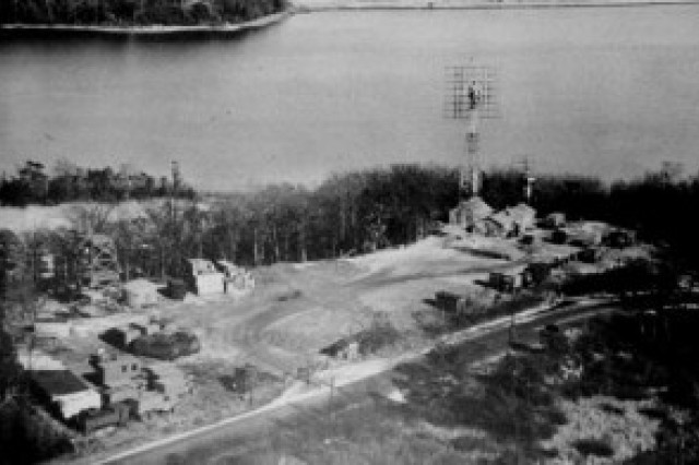Aerial photo of the Diana Site and tower.