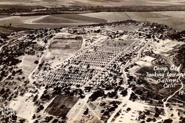 Aerial photo of Fort Ord looking toward Salinas, Calif., shot in 1941.