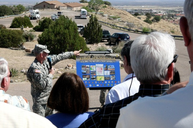 Civilian Aides to the Secretary of the Army visit Fort Huachuca, Ariz., during annual conference