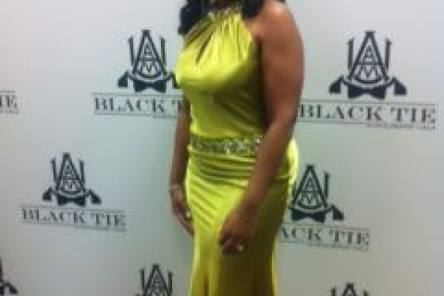 Alice Williams, ACC Office of Small Business Programs associate director, at the April 12 A&M Black Tie Ball.
