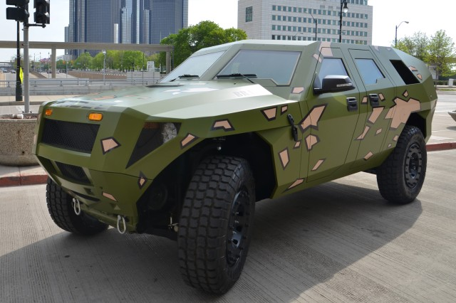 The Army debuted its latest concept vehicle, the Fuel Efficient ground vehicle Demonstrator, or FED Bravo, to the public at the Society of Automotive Engineers 2012 World Congress in Detroit, Mich., April 24-26, 2012.