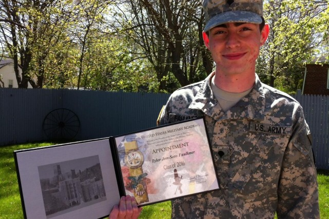 New York Army National Guardsmen reports to West Point for Class of 2016