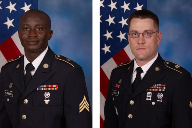 Sgt. Olayiwola Kugblenu of KUSAHC was selected the APG NCO of the Year during selection board proceedings April 27. Spc. Matthew Gansel, also of KUSAHC won the APG Soldier of the Year competition the same day.
