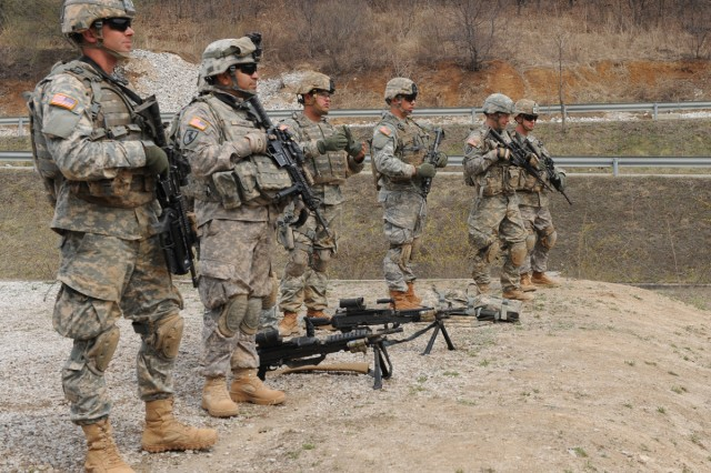 Soldiers from the 1st Battalion, 21st Infantry Regiment, 2nd Brigade Combat Team, 25th Infantry Division trained in South Korea during Foal Eagle in March and April.