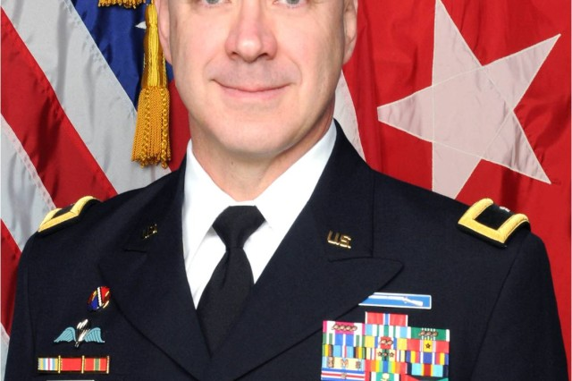 Brig. Gen. James T. Williams, commander of 302nd Maneuver Enhancement Brigade, 412th Theater Engineer Command. Williams took over command following the change of command ceremony at Westover Air Force Reserve Base, Chicopee, Mass., April 22, 2012.