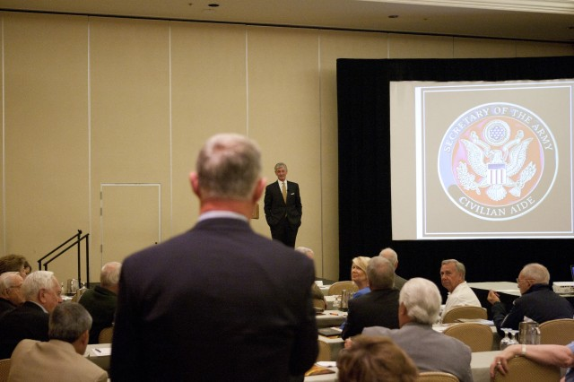 Army Secretary speaks at the annual 2012 Civilian Aides to the Secretary of the Army conference
