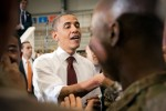 President greets Soldiers at Bagram
