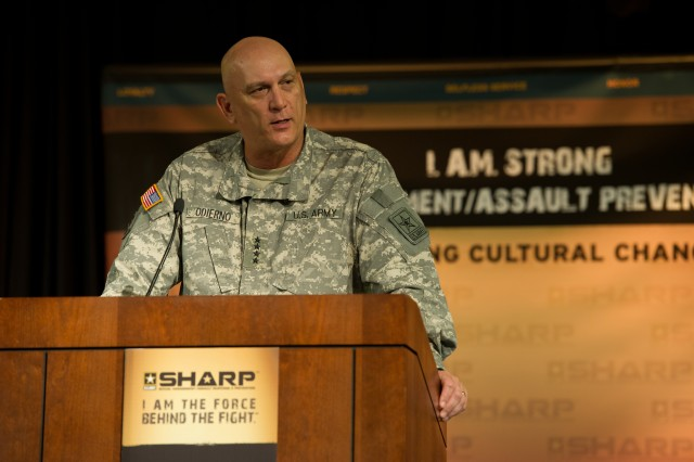 Odierno speaks at Sexual Harassment and Assault Response and Prevention Summit