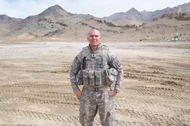 Tyler Kurth poses for a photo during his deployment to Afghanistan.