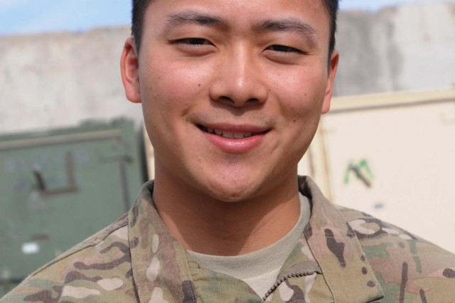Deployed to southern Afghanistan in support of Operation Enduring Freedom, 22-year-old 2nd Lt. Darius Chen currently serves as a medical officer with 5th Battalion, 20th Infantry Regiment, from Joint Base Lewis-McChord, Wash. A son of Asian-American immigrants, Chen is one of a handful of Asian-Americans and Pacific Islanders the military will celebrate in May for their contributions to the United States.