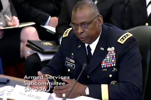 Vice Chief of Staff of the Army Gen. Lloyd J. Austin III spoke May 10, 2012, on Capitol Hill, and said that as the Army has left Iraq, it has had more time to train at home station.