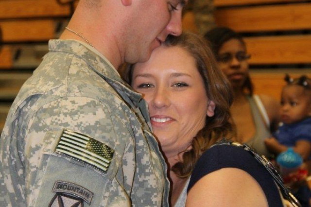 Soldiers from 473rd QM Co. returned to Fort Stewart after their year-long deployment, May 3.