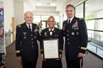 Rodriguez commissions new officers, addresses graduates, honors Wounded Warrior