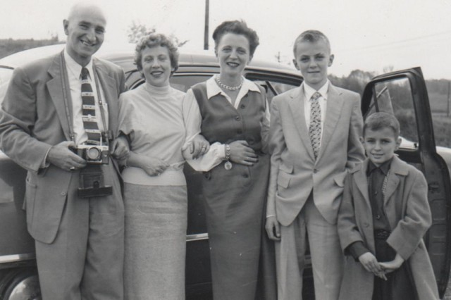 An undated photo of the Sabo family.