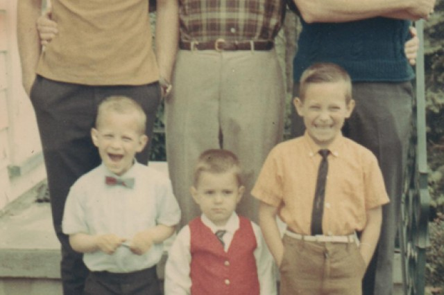 Leslie H. Sabo Jr. (top left) and his father, brother and nephews.