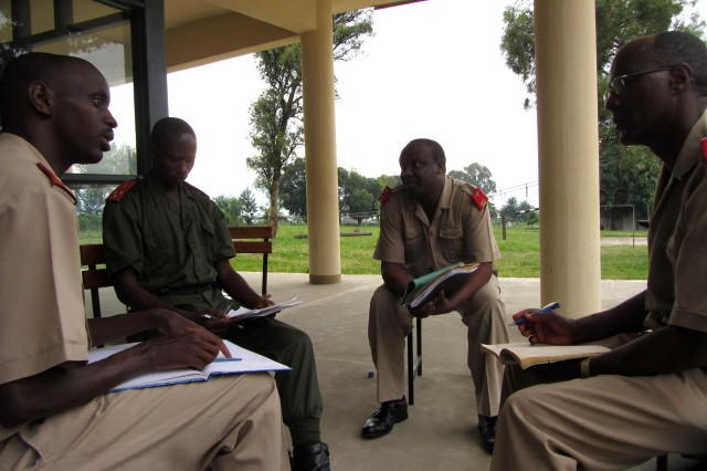 During a recent USARAF family ministry engagement, one of the most useful tools shared was Solution-Focused Therapy. Here, Burundi chaplains and psychologists role play and counsel one another at the Defense Institute for Superior Army Training in Bujumbura, Burundi.