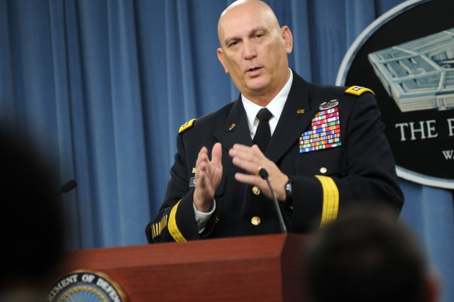 Chief of Staff of the Army Gen. Raymond T. Odierno briefed reporters, May 16, at the Pentagon, about the Army's vision for meeting tenets of recently released Department of Defense strategic guidance.