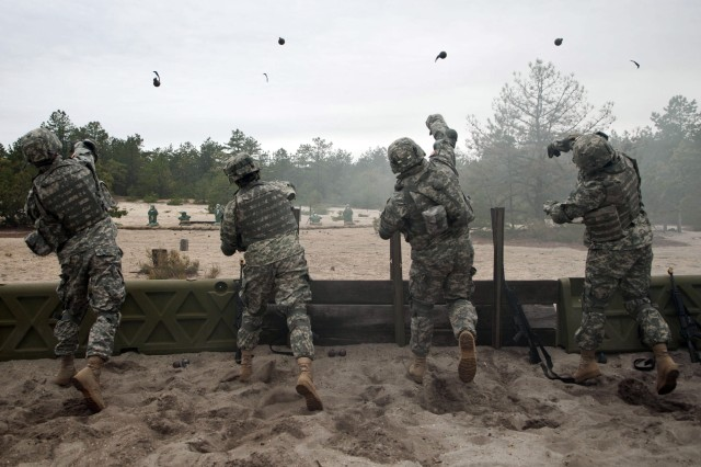 Soldiers engage in grenade training. The hand grenade is familiar to the general public by virtue of its frequent  appearance in countless war movies. Yet the basic technology is almost 100 years old. A Picatinny arsenal engineer wants to give a modern face-lift to the warhorse of warfare.