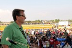 Mark Wicker surveys crowd during Fort Knox event.