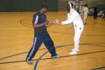 Fencing is demonstrated at USAG Bamberg, Germany