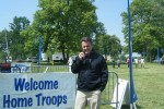 Mark Wicker prepars for Welcome Home Fort Knox event.