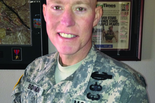Though currently being treated for liver cancer, Master Sgt. Robert Bowman plans to serve as a command sergeant major one day after his studies in the nonresident Sergeants Major Course are complete.
