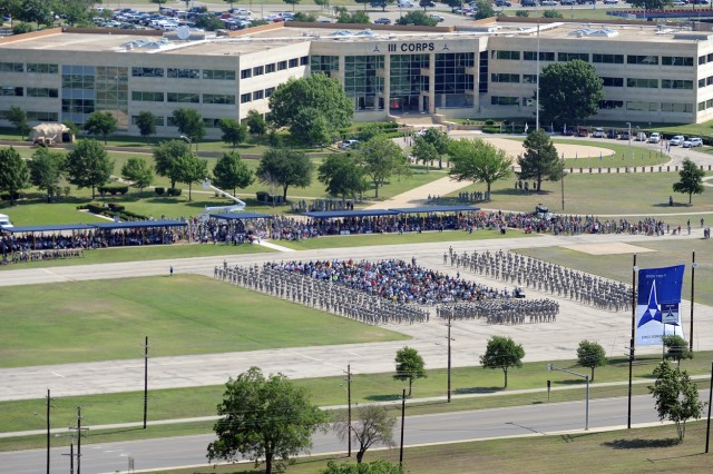 Nearly 700 Vietnam Veterans were properly welcomed home on Sadowski Parade Field in front of III Corps Headquarters at Fort Hood, Texas, May 21, 2012.