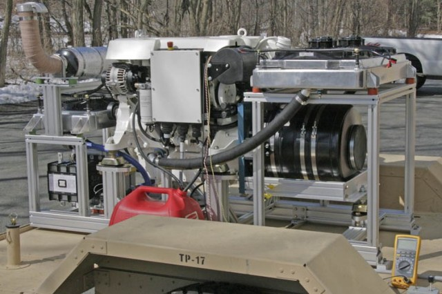 The 100 kW generator is light and compact enough to be towed by a Humvee, yet sturdy enough to be transported off road. The variable engine speed potentially allows for a 20-percent fuel reduction.