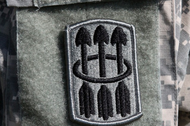 The new 30th Air Defense Artillery Brigade shoulder insignia's three arrows reflect the three major campaigns of the unit. They also symbolize the three main Ryukyu Islands in Japan, where the 30th ADA manned Nike-Hercules missiles for 13 years during the Cold War.
