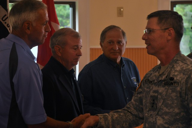 Lt. Gen. John E. Sterling, U.S. Army Training and Doctrine Command's deputy commanding general, congratulated the mentors for their dedication at the Fort Eustis Club, May 23.