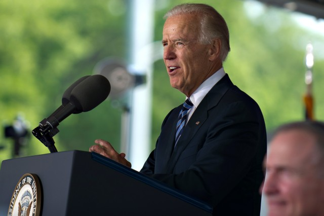 Vice President Joe Biden delivers the keynote address during commencement exercises for the class of 2012 at the U.S. Military Academy at West Point, N.Y., May 26, 2012.