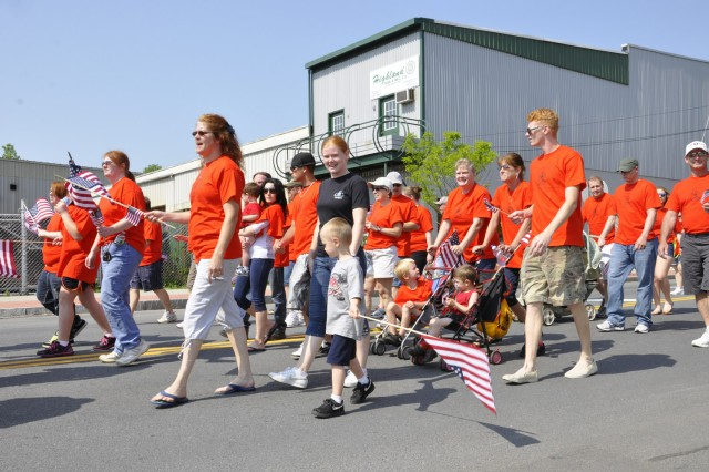 The Arsenal takes great strides in encouraging family member support to all of its community engagements as seen here in the City of Watervliet on May 28.