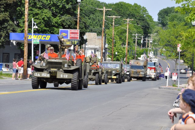 The Arsenal's parade contingent consists of about 8-10 vehicles, such as these vehicles, two floats, several emergency service vehicles, and 75 marchers.  These vehicles were provided by the Hudson-Mohawk Military Vehicle Collectors Club.