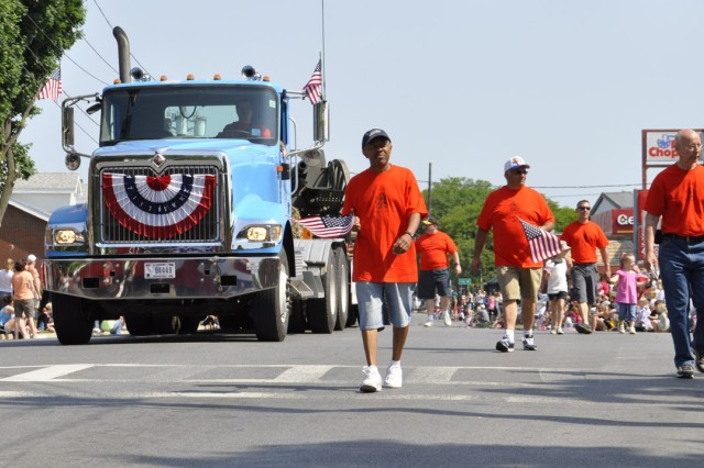 Nearing the end of the City of Watervliet Memorial Day Parade on May 28.  Nearly 1,000 local citizens were just in the last several blocks of the parade route.