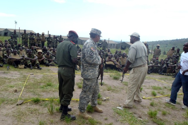 Texas National guardsmen exchange best practices with Burundi soldiers