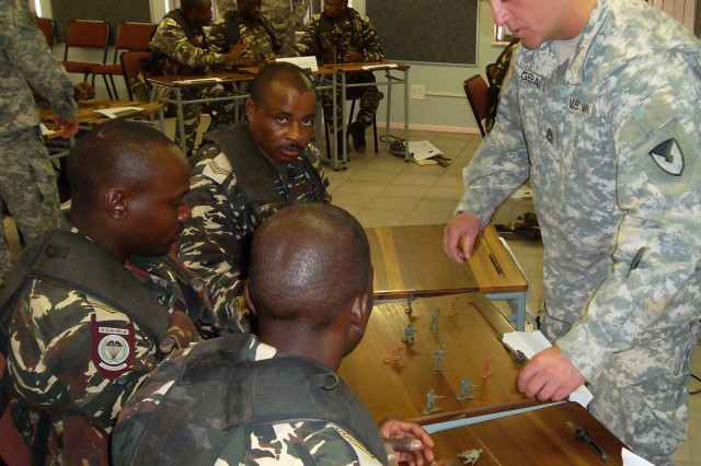 Security assistance team trains troops in Africa