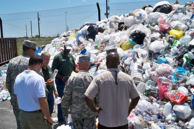 Through education and outreach, the Fort Hood Recycle Center, largest recycle facility in the Army, increases the amount of materials recycled.  When the recycle program first started in 1992, Fort Hood sold 600 tons of recyclable material.  During FY10 and FY11, the recycle center sold 17,521 tons of recyclable material.