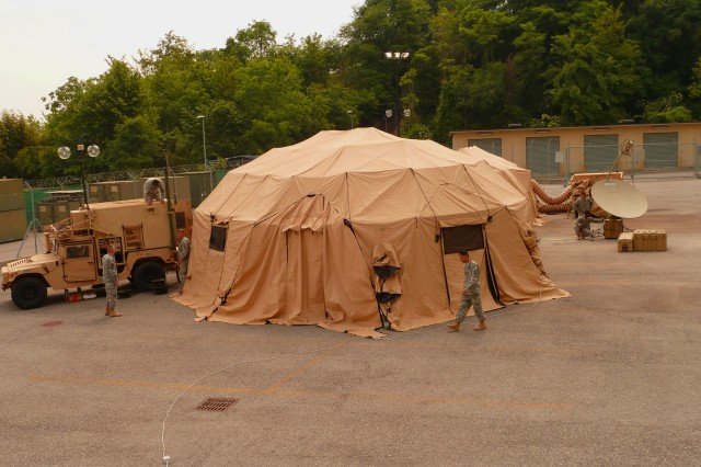 The U.S. Army Africa Forward Command Element is a self-contained, mobile command post capable of worldwide communications and can deploy within 72 hours.