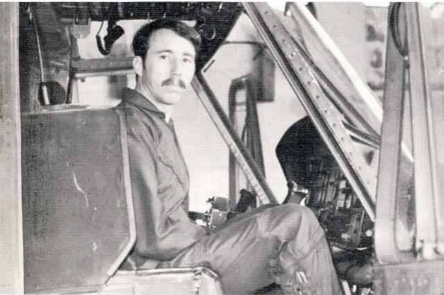 Warrant Officer Walter Jones in Korea after finishing flight school at Fort Rucker, Ala.