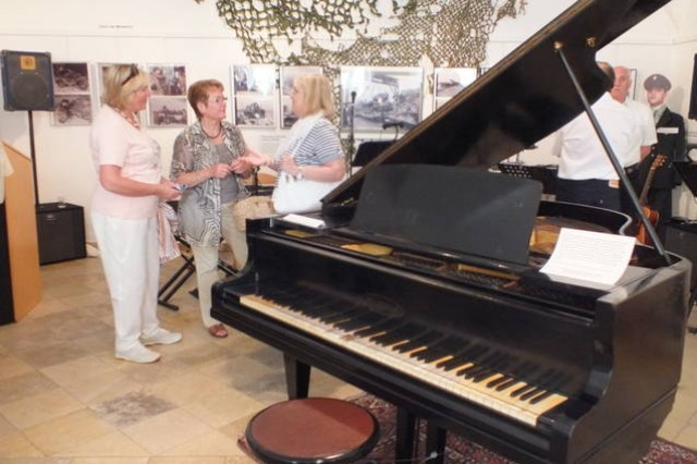 A piano that Elvis Presley played while stationed in Grafenwoehr is on display at the folk museum in Burglengenfeld through Aug. 19.