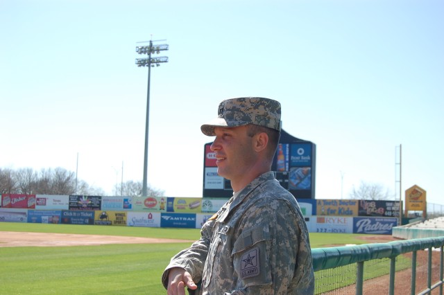 Capt. Jake Weber looks back fondly at his time playing Minor League Baseball but remains focused on taking the teamwork and leadership skills he learned on the baseball field to his new role as a company commander.