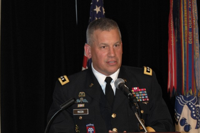 Lieutenant General Raymond Mason speaks at the 2012 Combined Logistics Excellence Awards (CLEA) ceremony in Washington D.C.