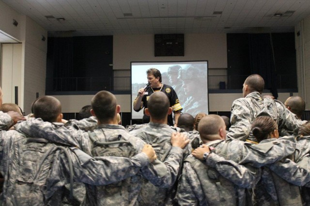 Eric Horner has performed hundreds of concerts for Soldiers in Basic Combat Training.