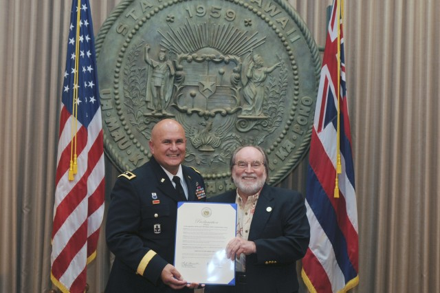 Governor presents proclamation