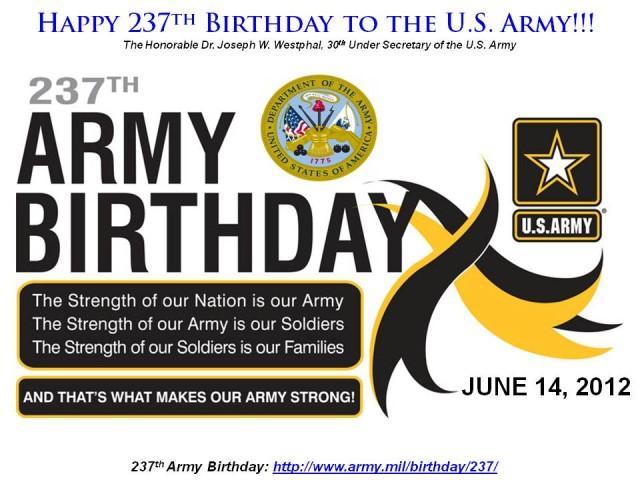 Happy 237th Birthday to the U.S. Army!!!